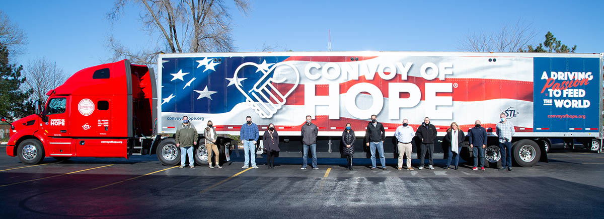 Team serving at Convoy of Hope